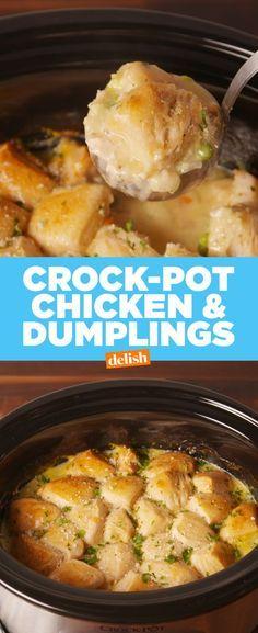 Crock-Pot Chicken and Dumplings - Delish.com