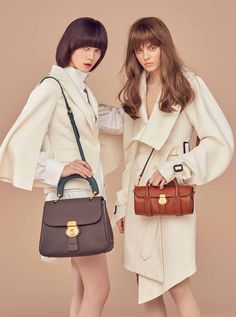 e2ecc5f9e01 Sculptural Burberry outerwear is styled with the DK88 bag in the latest  issue of Noblesse Korea