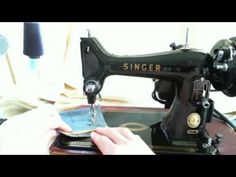 Singer 99 Sewing Machine in Action.mpg - YouTube Threading and winding bobbin