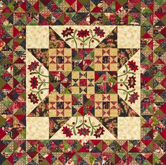 = free pattern = Midnight Blooms quilt by Kim Diehl as seen at All People Quilt Star Quilts, Scrappy Quilts, Mini Quilts, Easy Quilts, All People Quilt, Round Robin, American Patchwork And Quilting, American Quilt, Country Quilts