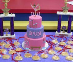 Gymnastics Birthday Cakes, Gymnastics Party, Gymnastics Suits, 6th Birthday Parties, 9th Birthday, Little Girl Birthday, Cake Designs, Birthdays, Gelato