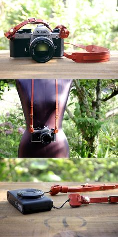 leather camera strap | Duram Factory