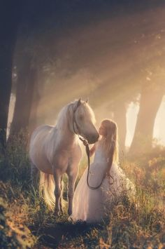 Girl With Her Horse: Such a special, captivating ethereal photograph!