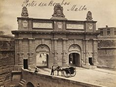 Porte des Bombes Floriana Malta by Francis Frith early 1870s