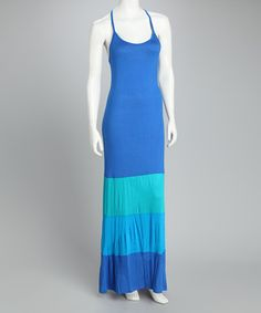 Sweet! Royal Blue Color Block Maxi Dress by Loveappella