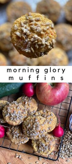 These two point muffins are an easy way to sneak in extra servings of fruit and vegatables without even knowing. They are not overly sweet but the sunflower seeds on top make for a perfect sweet and salty combo. #healthymuffins #weightwatchersmuffins #freezerfriendly #makeahead