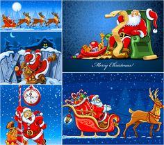 #Santa Claus backgrounds #vector