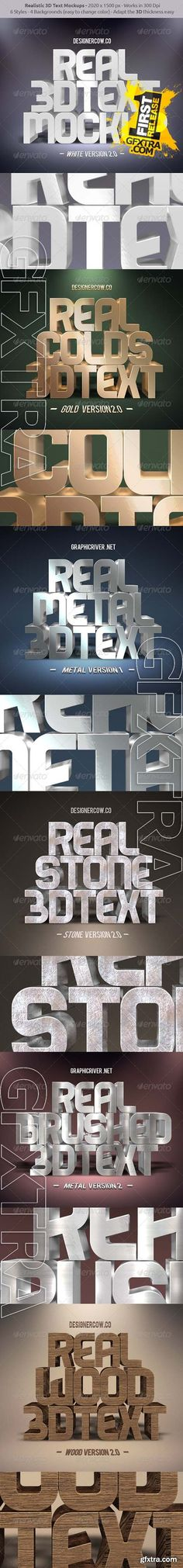 Real 3D Text Mockups - Graphicriver 8553107