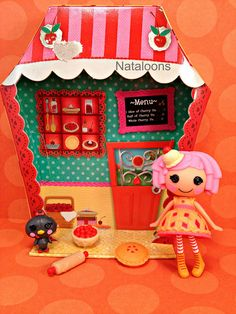 Mini Lalaloopsy Cherry Crisp Crust by Nataloons, via Flickr