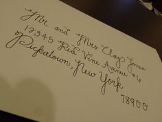 I'd love to do my own calligraphy for invitations...