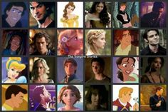 I just realized the Disney characters look like the Vampire Diaries characters <3