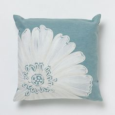 Whimsical flora on this handcrafted pillow adds color and character to indoor and outdoor spaces alike. Flora Design, Flower Pillow, Hearth And Home, How To Make Pillows, My Furniture, Home Decor Items, Bed Pillows, Cushions, Decorative Pillows