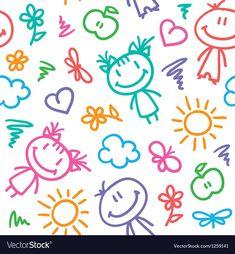 Royalty-Free Vector Images by redcollegiya (over Scrapbook Letters, Scrapbook Background, Kids Background, Owl Vector, Vector Free, Logo Infantil, Bullet Journal Banner, Room Stickers, Kawaii Doodles