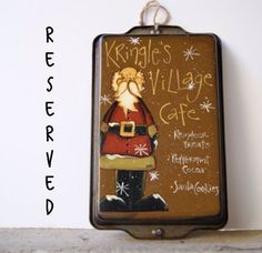 RESERVED For Tom'sHandcraftedGifts Santa Claus Cake by Ramshackles