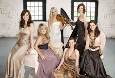 The Beautiful Celtic Woman once again, starting with the Left, is Lisa, Chloe, Mairead, Alex, Orla, And Lynn.