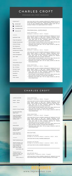 Teacher Resume - Teacher CV - CV Template - Free Cover Letter - MS - free cover letter template for resume