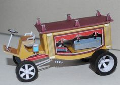 This vehicle paper model is a Hot Rod Deadtruck, created by racepaper. You may get this paper model template here: Deadtruck - Hot Rod Free Vehicle P 3d Paper, Free Paper, Paper Crafts, Paper Model Car, Paper Models, Cardboard Toys, Paper Toys, Papercraft Download, Paper Magic