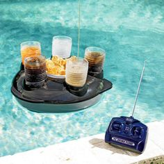 Floating Snack Bar | dotandbo.com ~ Need this at the pool!