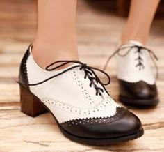 Women new Fashion spring summer trend british style vintage 5.5cm thick heels lacing pumps PU shoes large plus size 40-43