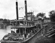 """Steamboat """"W.C. Bradley"""" at a landing on the Apalachicola River - Apalachicola"""