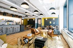 Collaborative space at WeWork's coworking campus in Chicago