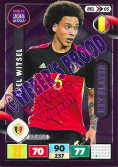 BEL05. Axel Witsel (Belgium) - Key Player Panini Road to 2018 FIFA World Cup Russia Adrenalyn XL