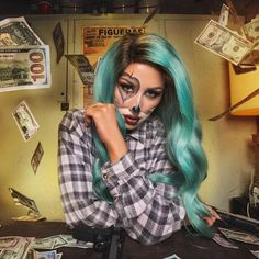 I'm so excited to share this short film with you! The image of the the Gangster Clown girl was one that I admired and wondered about as a child. Cute Halloween Makeup, Halloween Inspo, Halloween Looks, Halloween Party Costumes, Halloween 2017, Diy Costumes, Diy Halloween, Costume Ideas, Chola Costume