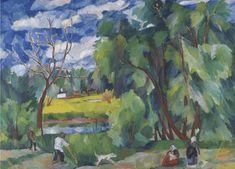 Haymaking, 1910 by Natalia Goncharova. Cubist Art, Avantgarde, Russian Avant Garde, Avant Garde Artists, Expressionist Artists, Dutch Painters, Russian Art, Tree Art, Female Art