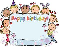 Aniversário de crianças - ilustração de arte em vetor