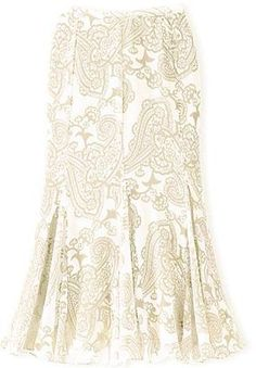 ShopStyle: Silk Georgette Skirt