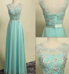 Prom dress,Charming Prom Dress,O-Neck Prom Dress,A-Line Prom Dress,Appliques Prom Dress,Chiffon Prom Dress