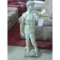 STATUA CEMENTO / GRANITO STILE DAVID ALTA 90 CM SU PIATTAFORMA QUADRATA | http://www.cesena.mercatinousato.com/piccoli-mobili/statua-cemento/644286