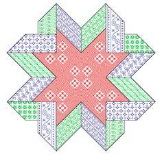 Boutique de la Brodeuse Bressane: Ribbon Star