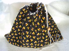 Drawstring Trick or Treat Bag Reusable Fully by greenlioness, $12.00