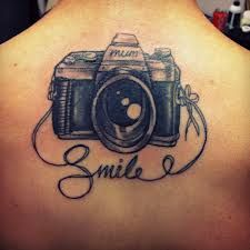 camera tattoo - smile