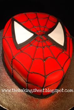 Spiderman cake http://thebakingsheet.blogspot.com/search?updated-max=2011-04-01T16:43:00-04:00&max-results=20