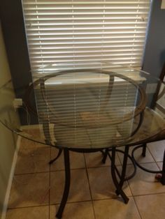 Counter height glass top table and 6 chairs in RoweGarage Sale in Sachse , TX for $100. This glass top table is in great condition.  The 6 chairs are in great condition as well...just need to have the seats recovered.  The chairs can easily be recovered.  Table and chairs will need to be picked up in Sachse.