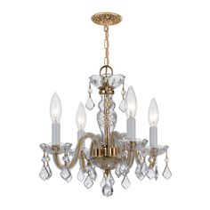 I pinned this Hilaire Crystal Chandelier in Polished Brass from the Gold Coast Lighting event at Joss and Main!
