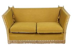 Saturdays at the Flea Knole Sofa, Affordable Furniture, Fleas, Love Seat, Couch, Bedroom, Kings Lane, 1960s, English
