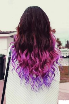 Pink and Purple Dip-Dyed hair