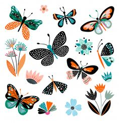 Find butterfly vector stock images in HD and millions of other royalty-free stock photos, illustrations and vectors in the Shutterstock collection. Illustration Papillon, Butterfly Illustration, Illustration Art, Butterfly Flowers, Butterflies, Butterfly Images, Monarch Butterfly, Art Plastique, Gouache