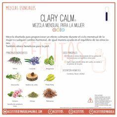 Mezclas esenciales: Clary calm. #aceites #esenciales #aceitesesenciales #doTERRA…