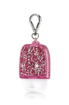 Glitzy Gems - Pink - PocketBac Holder - Bath & Body Works - Shimmer & shine with these glittering gems! A convenient clip attaches to your backpack, purse and more so you can always keep your favorite sanitizer close at hand.