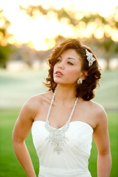 Short Hair Wedding Styles , Wedding Hair & Beauty Photos by Brides Be Beautiful - Image 3 of 28