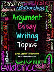 Argument Essay Writing Topics (or Claims) for Common Core Argument Writing Argumentative Essay Topics, Persuasive Writing, Teaching Writing, Teaching Ideas, Opinion Writing, Teaching Resources, Writing Corner, Thesis Writing, Dissertation Writing