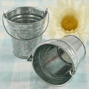 favor pails, small galvanized buckets, small tin pails - Set To Celebrate - Fill with candy, tea...