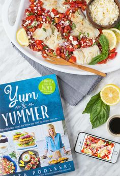 Mediterranean Fish Dish is fast, fresh, and comes together using minimal ingredients! The incredible flavours of this dish will surely please! Easy Fish Recipes, Heart Healthy Recipes, Seafood Recipes, My Favorite Food, Favorite Recipes, Yummy Food, Tasty, Fish Dishes, Cookbook Recipes