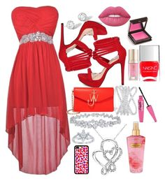 """Raging Red"" by genevievelee ❤ liked on Polyvore featuring J.W. Anderson, Riviere, Effy Jewelry, Harry Winston, Disney, Lime Crime, Victoria's Secret, Jouer, Margaret Dabbs and Nails Inc."