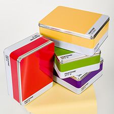 Pantone Storage Box - Ruby Red ::: Come in seven different colors $25.00. Love all the colors. I would leave them out for others to see. Lorr