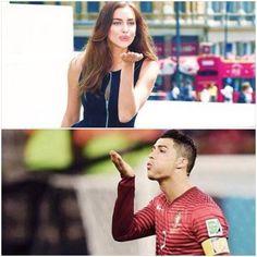 Irina Shayk ♥  And Cristiano Ronaldo ♥